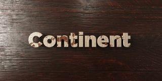 Continent - grungy houten krantekop op Esdoorn - 3D teruggegeven royalty vrij voorraadbeeld royalty-vrije illustratie