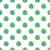 Continent op naadloos planeetpatroon vector illustratie