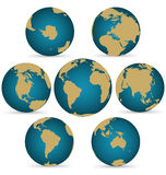 Continent on Rotatable Globe. Continent and Ocean Rotatable Globe, Credit World Map from NASA Stock Photography