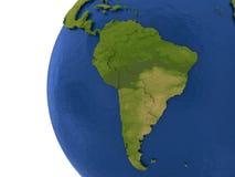 Continent sud-américain sur terre Photo libre de droits