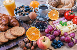 Continentaal ontbijt royalty-vrije stock fotografie