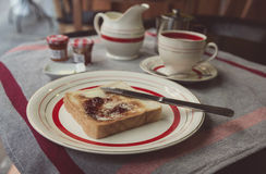 Continentaal ontbijt royalty-vrije stock foto