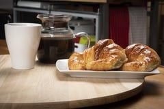Continentaal ontbijt op de keuken royalty-vrije stock foto
