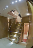 Continental 80 luxury yacht, staircase Royalty Free Stock Image