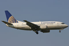 Continental Airlines Boeing 737 Vliegtuig Stock Foto's