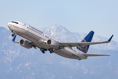 Continental Airlines Boeing 737-800 airplane Royalty Free Stock Photo
