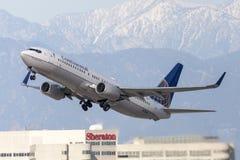 Continental Airlines Boeing 737 flygplan Royaltyfri Foto