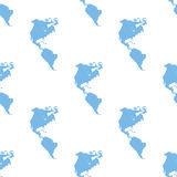 Continental Americas seamless pattern. Continental Americas white and blue seamless pattern for web design. Vector symbol Royalty Free Stock Image
