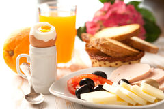 Continental breakfast. Table set up for continental breakfast Royalty Free Stock Image