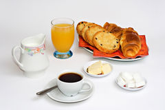 Continental breakfast. Food and beverages stock image