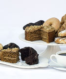 Continental breakfast buffet table setting with coffee and pastr Stock Photography