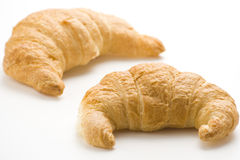 Continental breakfast of coffee and croissants Stock Photo