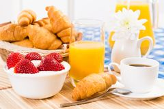 Continental breakfast Royalty Free Stock Photos