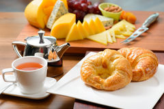 Continental breakfast with croissant Stock Image