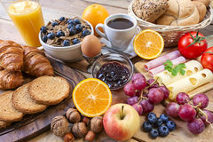 Continental breakfast Stock Images