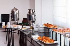 Continental breakfast in a hotel Stock Photography
