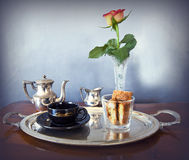 Continental breakfast for one Royalty Free Stock Photo