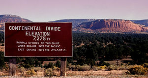 Continental divide Royalty Free Stock Photography