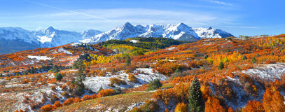 Continental divide. In autumn time near Ridge way Colorado Stock Image