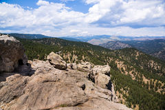 The Continental Divide, Colorado. The Continental Divide, as seen from the east side in the Rocky Mountains, Colorado stock photography