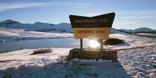 Continental Divide Independence Pass. Horizontal royalty free stock photo