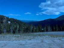 Continental divide loveland pass colorado royalty free stock photography