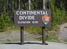 Continental Divide Sign Closeup Stock Photos