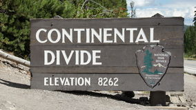 Continental Divide sign Royalty Free Stock Images