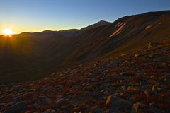 Continental Divide Sunrise. Sunrise from the Continental Divide above Loveland Pass in Colorado Royalty Free Stock Photo