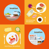 Continental and French Breakfast concepts Royalty Free Stock Photography