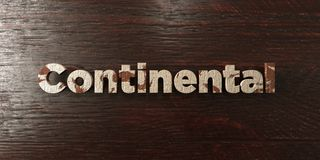 Continental - grungy wooden headline on Maple  - 3D rendered royalty free stock image Stock Photos