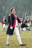 Continental officer at pass and review at the 225th Anniversary of the Victory at Yorktown, a reenactment of the siege of Yorktown Stock Image