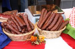 Continental Sausages. Stock Image