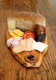 Continental Style Breakfast Platter. Image of a continental style savory breakfast platter Royalty Free Stock Image