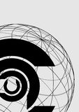 Continental symbol background. Creative design of continental symbol background Royalty Free Stock Photos