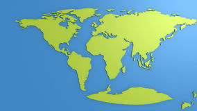Continentale afwijking vector illustratie