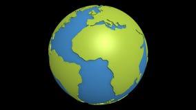 continentale afwijking Atlantische Oceaan vector illustratie