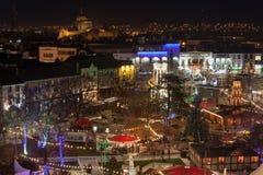 Continentale Kerstmismarkt van Galway Stock Afbeelding