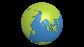 continentale vreedzame afwijking vector illustratie