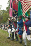 Continentals arrivent au 225th anniversaire de la victoire chez Yorktown, une reconstitution du siège de Yorktown, où le Général  Photo stock
