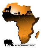 Continente África Imagens de Stock