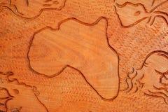 Continente africano en madera Imagen de archivo