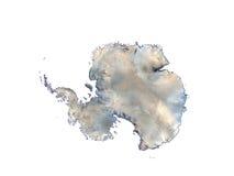 Continente antárctico no fundo branco ilustração do vetor