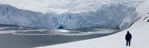 Continente antárctico - turista da aventura - console de Graham Foto de Stock Royalty Free