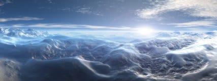 Continente antárctico Widescreen Fotografia de Stock