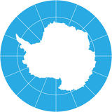 Continente antárctico Foto de Stock Royalty Free