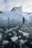 Continente antárctico - geleira de Petzval Fotografia de Stock Royalty Free