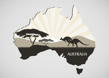 Continente australiano Imagem de Stock