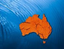 Continente australiano fotografia stock libera da diritti