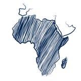 Continente de África Fotografia de Stock